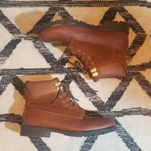 Cole Haan leather and suede ankle boots